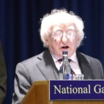 The President of Ireland reads one canto of the Divine Comedy at the National Gallery of Ireland