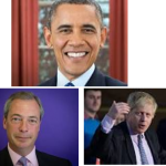 JOHNSON-FARAGE CONTRO OBAMA A LONDRA
