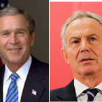 BUSH AND BLAIR THE CULPRITS OF A WORLD DESTABILIZING WAR
