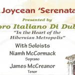 JOYCEAN CONCERT BY CORO ITALIANO DI DUBLINO